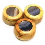 Wooden Jewel Box ~ Natural Agate, Small