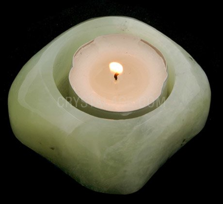 New Jade Shallow Tea Light Holder