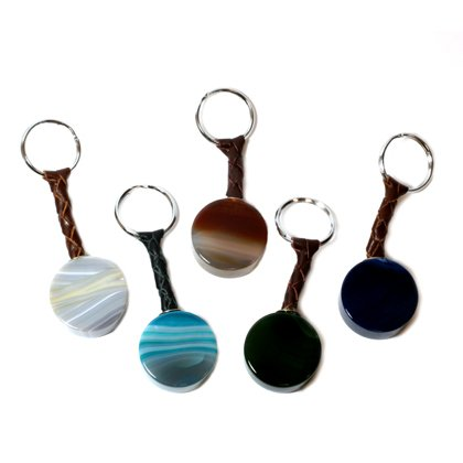 Agate Barrel Keyrings - Assorted