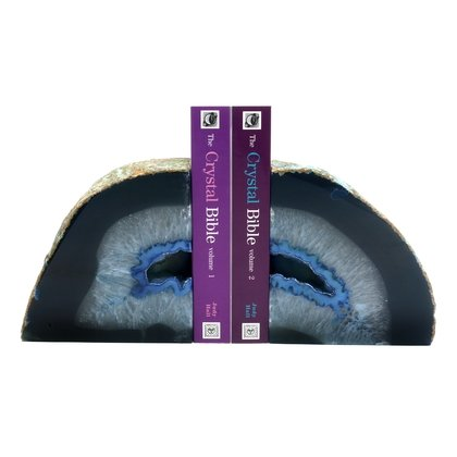 Agate Bookends ~12cm  Blue