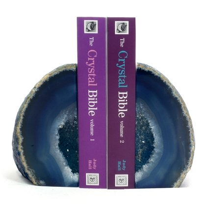 Agate Bookends ~ 12cm  Blue