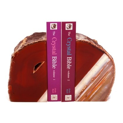 Agate Bookends ~15cm  Natural Brown/Red