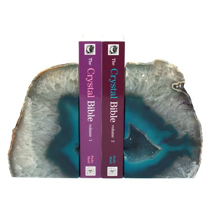 Agate Bookends ~17cm Turquoise