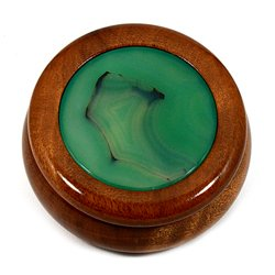 Wooden Jewel Box ~ Agate Green, Medium
