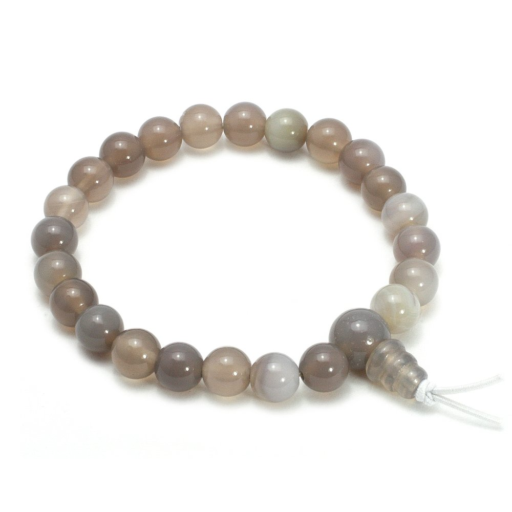 Agate Power Bead Bracelet