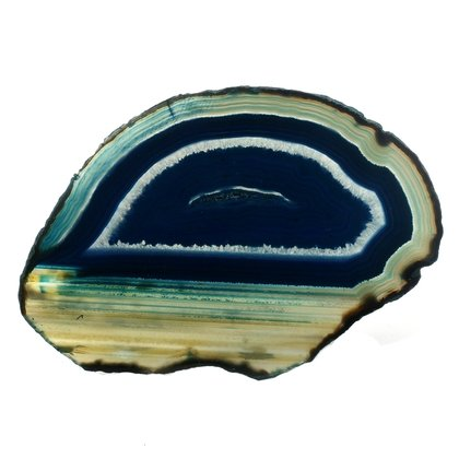 Agate Slice - Turquoise ~150mm