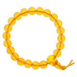 Amber Power Bead Bracelet - Synthetic