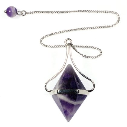 Amethyst Chevron Double Ended Pendulum