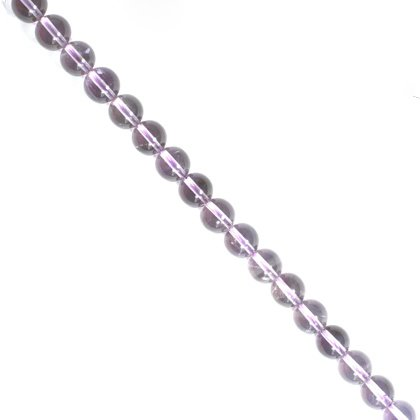 Amethyst Crystal Beads - 8mm Round