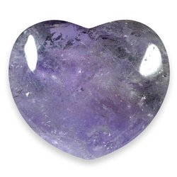 Amethyst Crystal Heart ~45mm