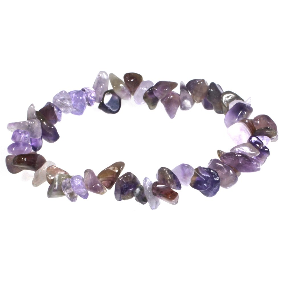 c0acac8d674 Amethyst Gemstone Chip Bracelet. Double tap to zoom