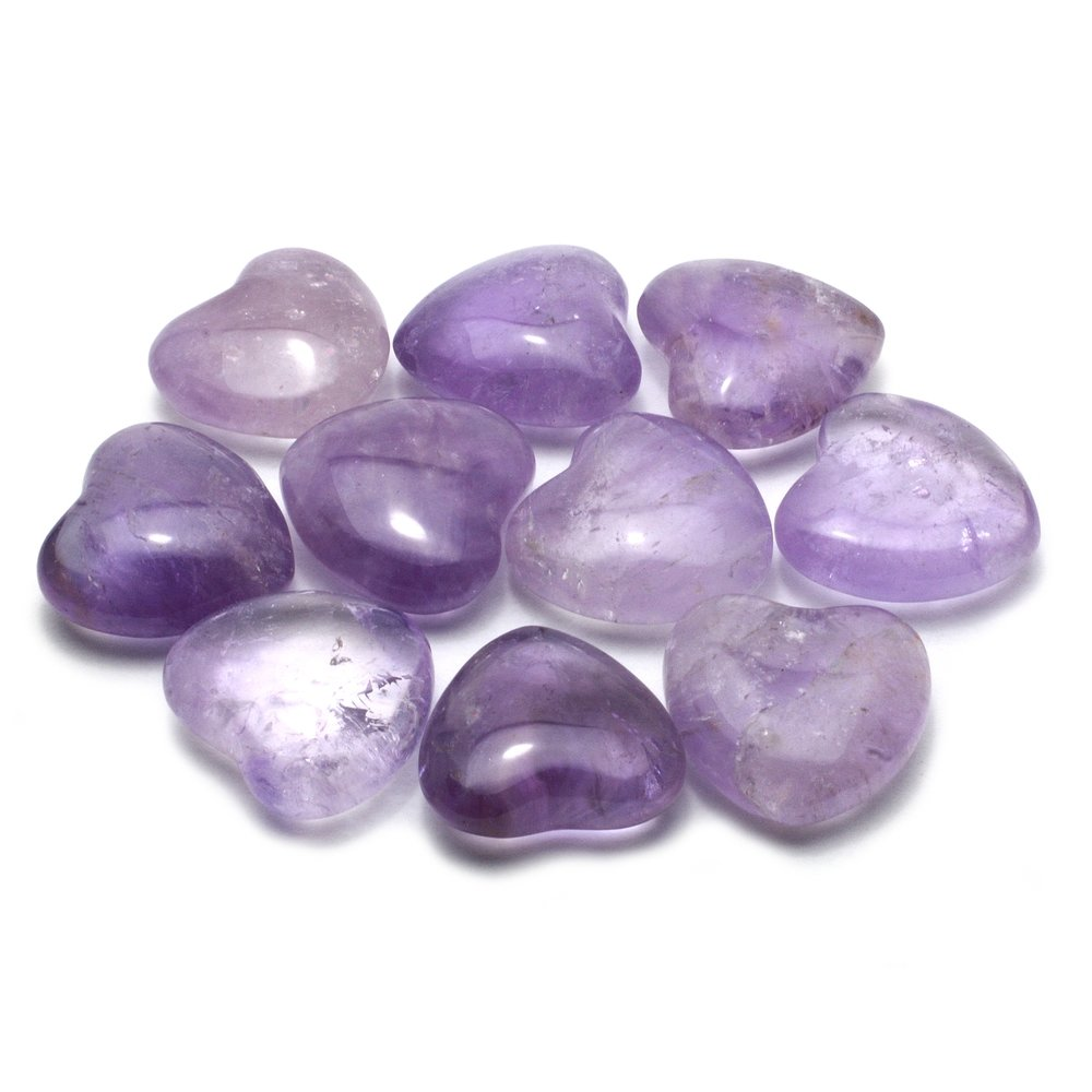 Amethyst Mini Crystal Heart - 2.5cm