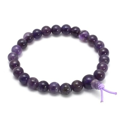 Amethyst Power Bead Bracelet