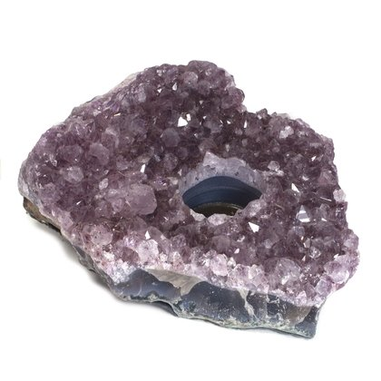 Amethyst Tealight Candle Holder ~ 16.5cm