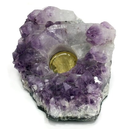 Amethyst Tealight Candle Holder ~ 17 x 14.5cm