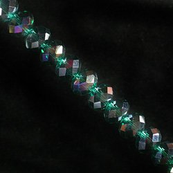 Flame Aura Style Crystal Beads - 10mm Facet Roundel