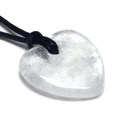 Aquarius Birthstone Necklace - Quartz Heart