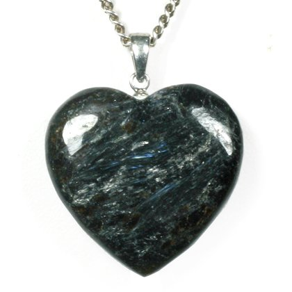 Astrophyllite & Silver Pendant - Heart  26mm