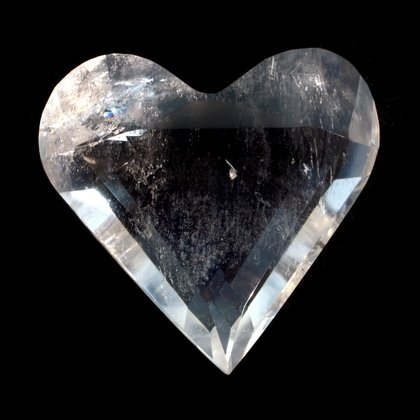 Beautiful Quartz Faceted Polished Heart ~50mm