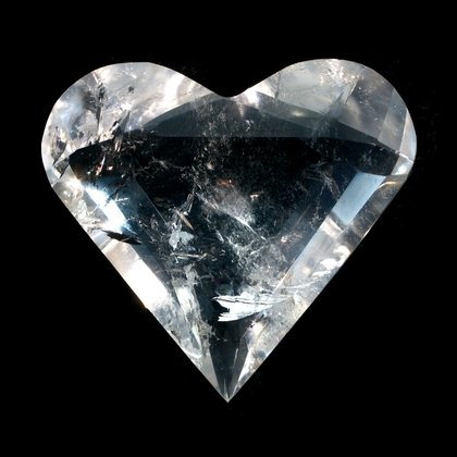 Beautiful Quartz Faceted Polished Heart ~62mm