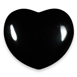 Black Obsidian Crystal Heart ~45mm