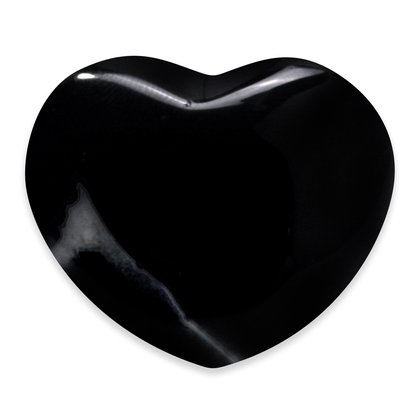 Black Onyx Heart ~45mm