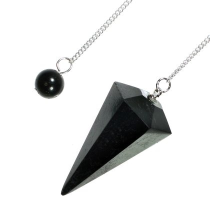Black Tourmaline Crystal Pendulum