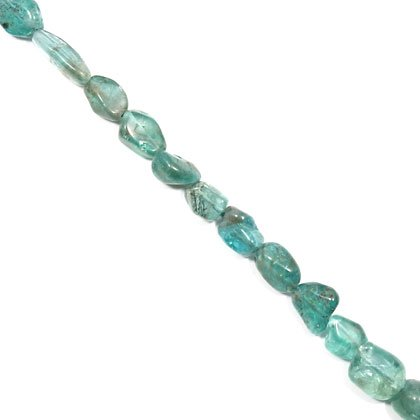Blue Apatite Crystal Beads - 5-10mm Tumble Stone