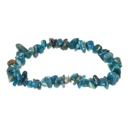 Blue Apatite Gemstone Chip Bracelet