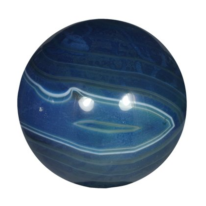 Blue Banded Agate Crystal Sphere ~5.5cm