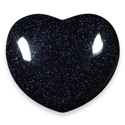 Blue Goldstone Crystal Heart ~45mm