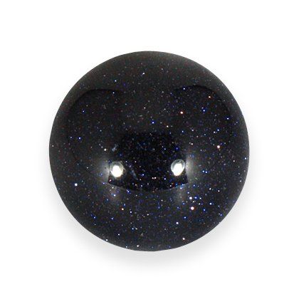 Blue Goldstone Crystal Sphere ~2.5cm