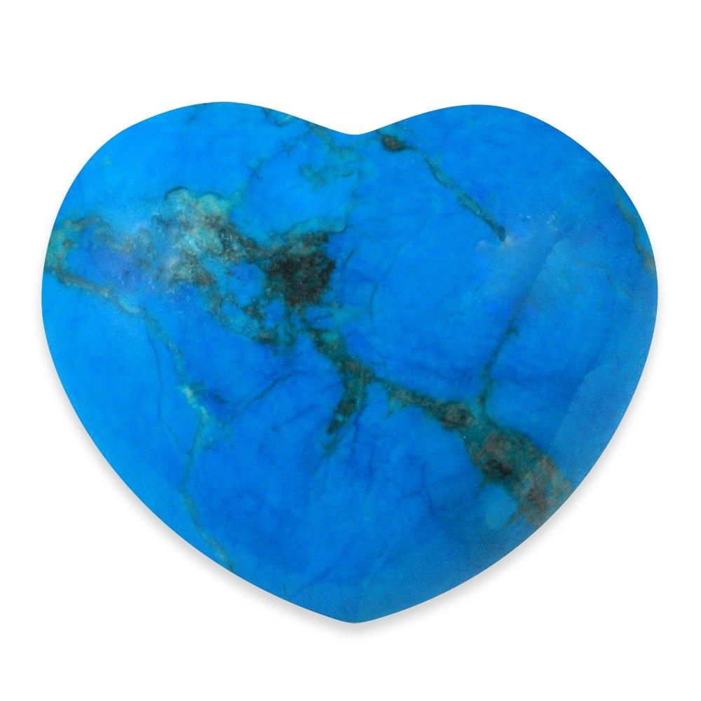 Blue Howlite Crystal Heart 45mm