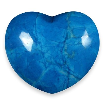 Blue Howlite Crystal Heart ~45mm