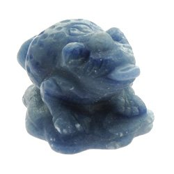 Blue Quartz Money Toad (Small)