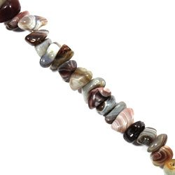 Botswana Agate Crystal Beads - 5-10mm Tumble Stone