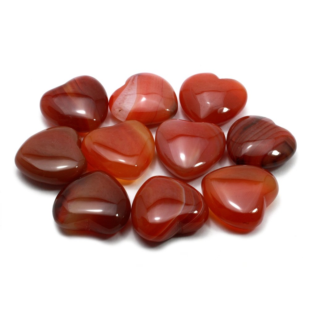 Carnelian Mini Crystal Heart - 2.5cm