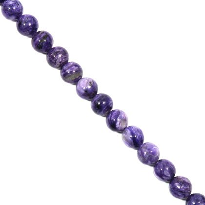 Charoite Crystal Beads - 10mm Round Bead