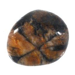 Chiastolite Crystal Tumblestone Polished Gemstone Cross