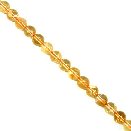 Citrine Crystal Beads - 9mm Round