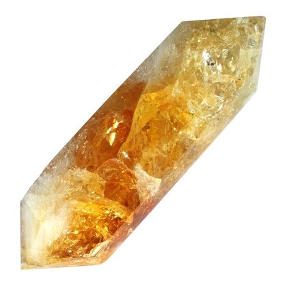 Citrine Double Terminated Polished Point  ~10.5 x 3.5cm