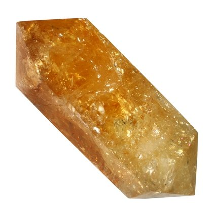 Citrine Double Terminated Polished Point  ~7.5 x 3 cm