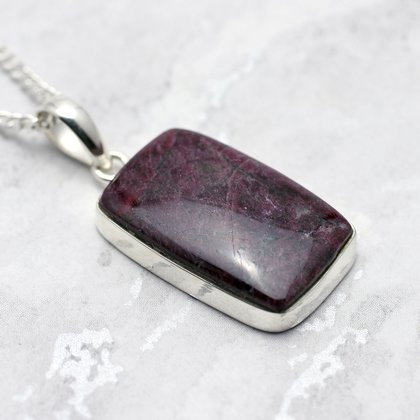 Eudialyte & Silver Pendant  ~27mm