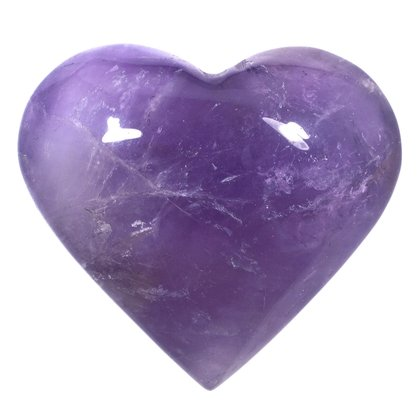 Exceptional Amethyst Polished Heart  ~54mm