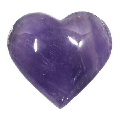 Exceptional Amethyst Polished Heart  ~55mm