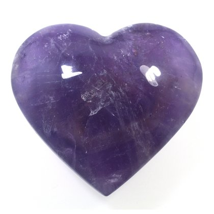 Exceptional Amethyst Polished Heart  ~62mm
