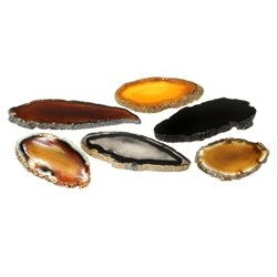 Extra Mini Agate Slices - Natural Pack of 6