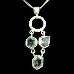 Faceted Quartz Nugget Pendant 60mm