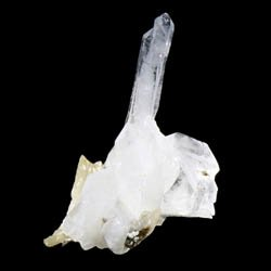 Faden Quartz with Calcite Crystal Specimen ~40mm
