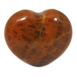 Fire Agate Crystal Heart ~45mm